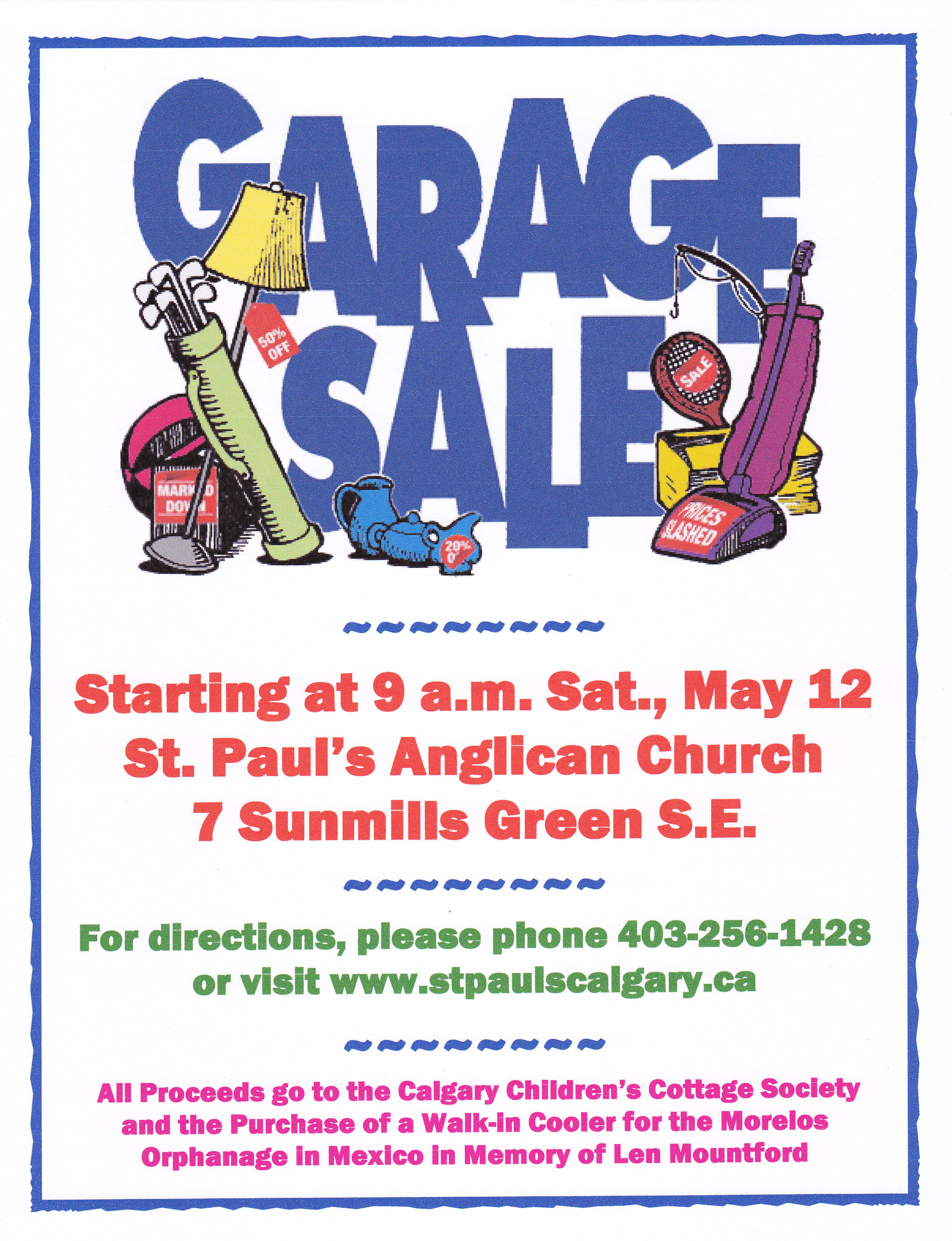 Our Garage Sale on May 12 Will Support Local Outreach and the ...