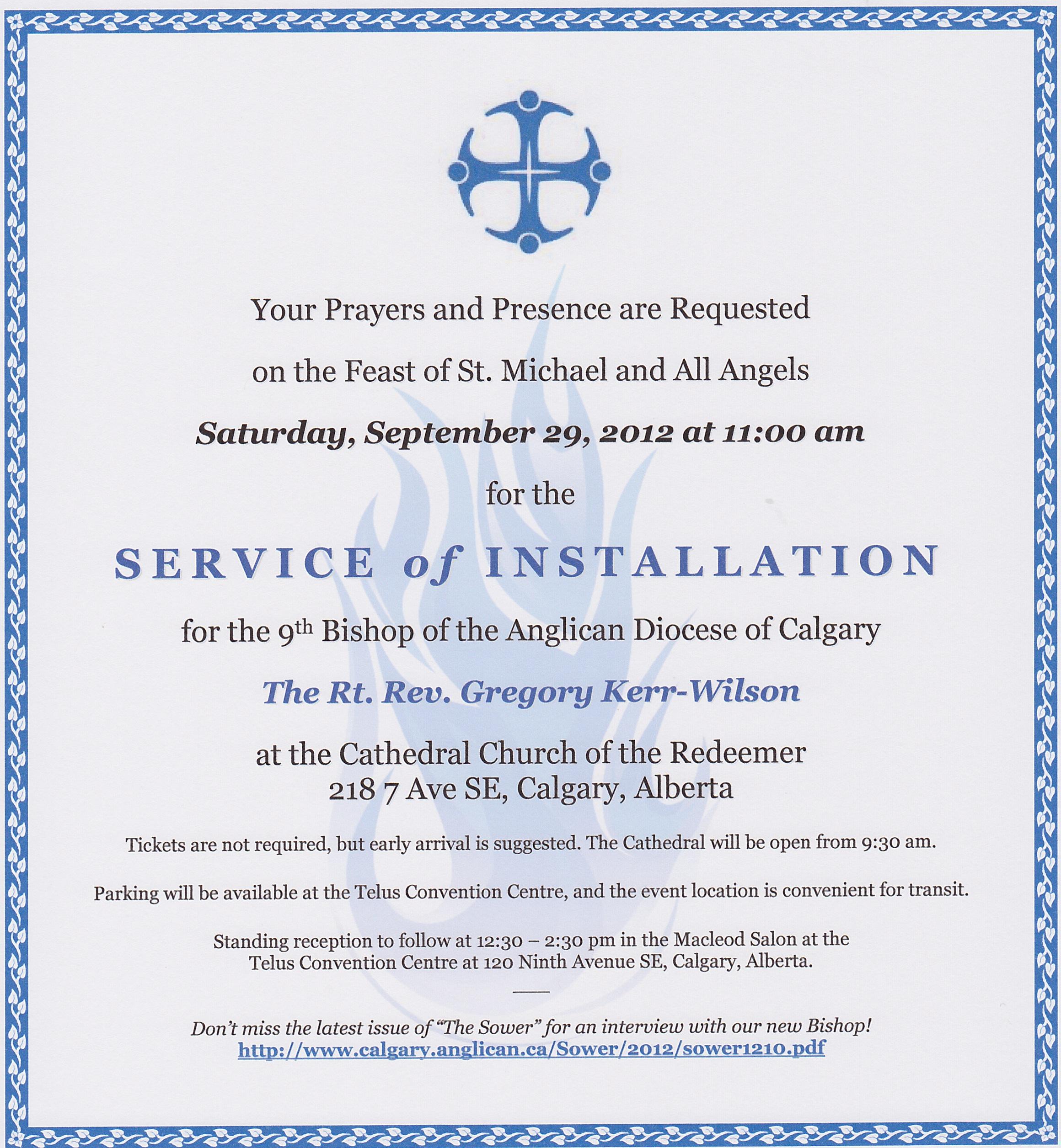 Invitations For Installation Of Pastor | Party Invitations Ideas