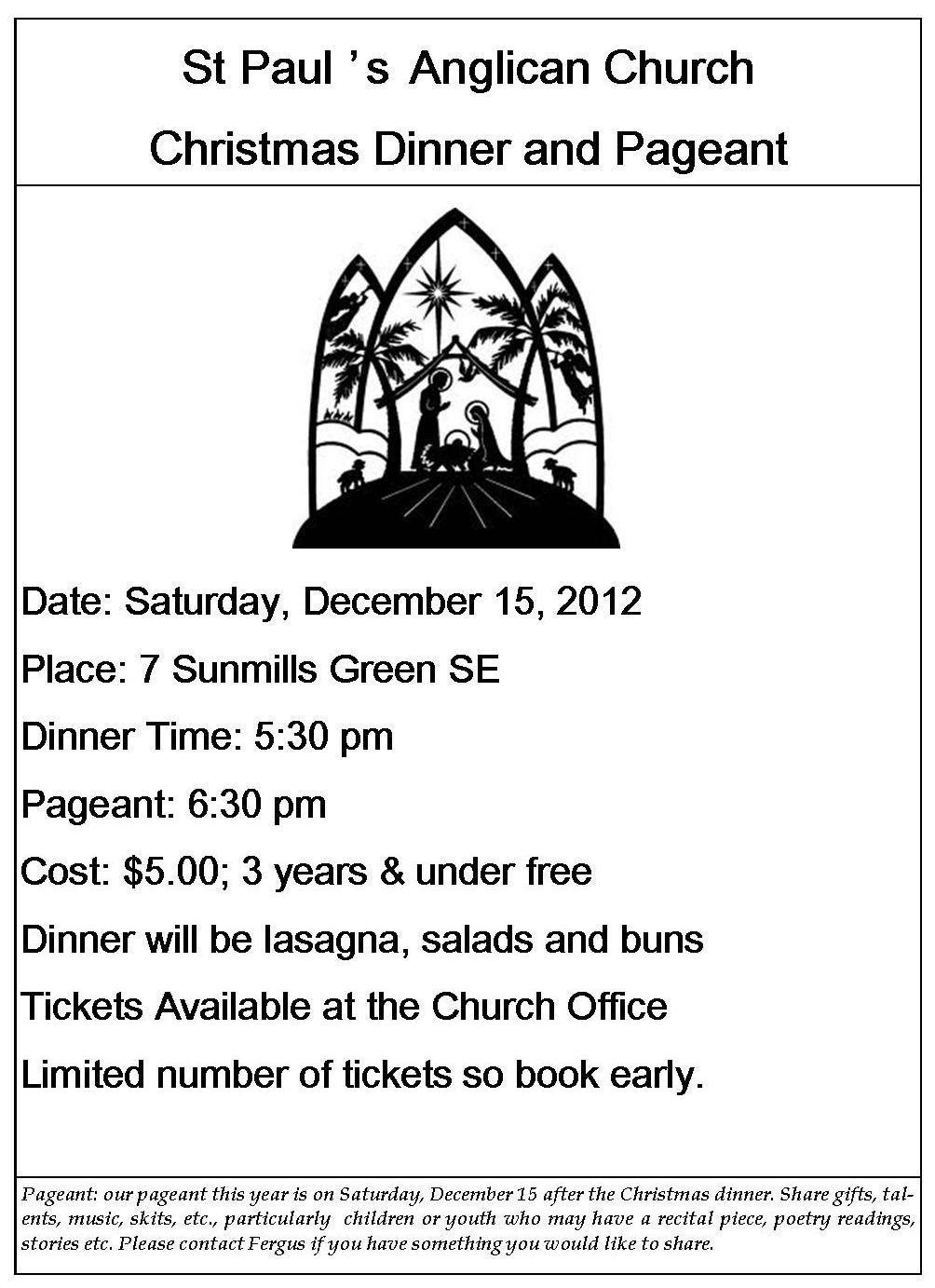 christmas dinner poster animated_christmas_tree - Christmas Dinner Blessings