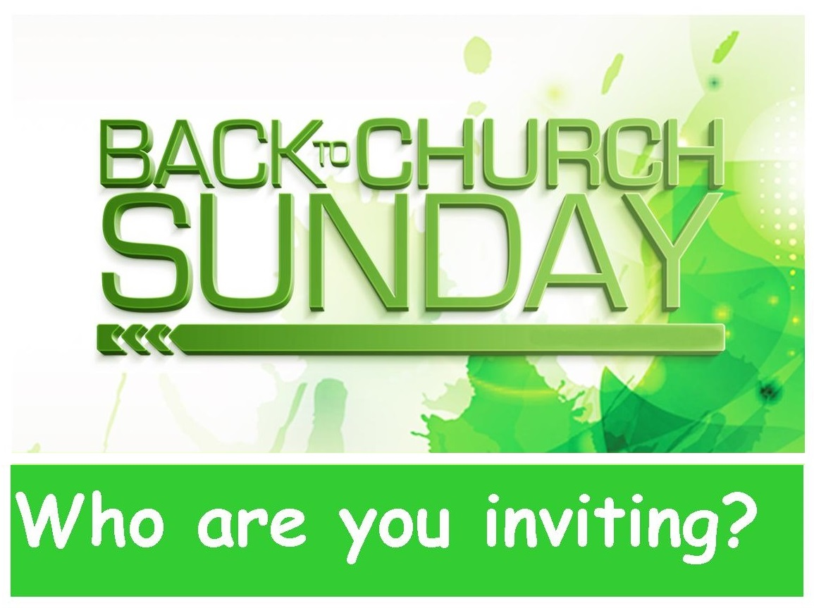 ... Someone to Come with Us to Church on September 28 | Pastor's Postings