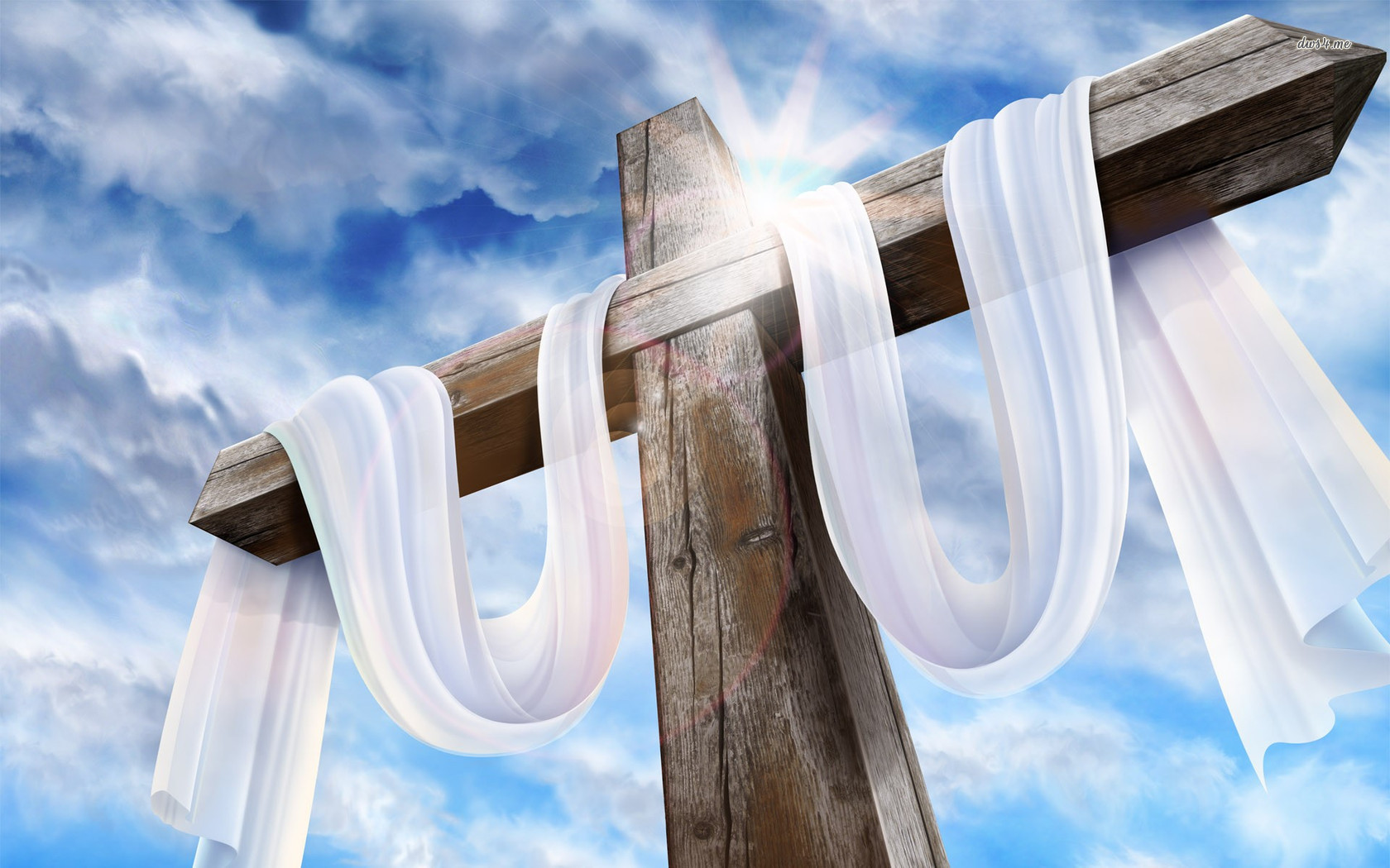 Easter Cross Background Wallpaper 1